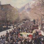 مراسم تشییع پیکر پاک شهید حبیبی - بهار1365