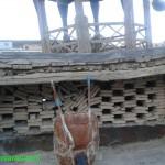 مسجد جامع خوانسار: مناره مسجد که پایههای آن آسیب دیده و کج شده!